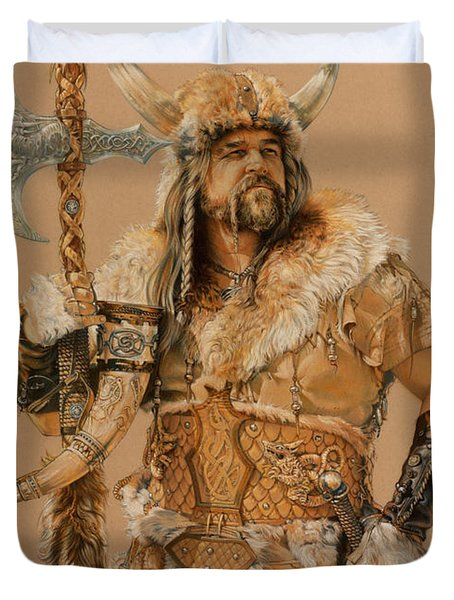 The Young Son Of Bor Duvet Cover by Steven Paul Carlson