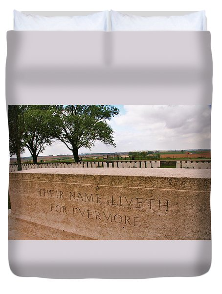 Duvet Cover featuring the photograph Their Name Liveth For Evermore by Travel Pics