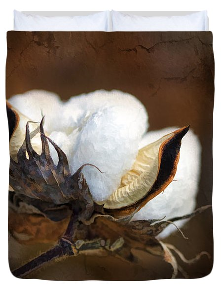 Them Cotton Bolls Duvet Cover by Kathy Clark