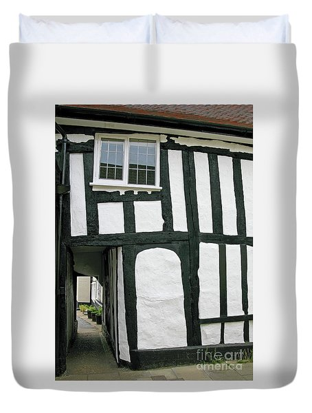 There Was A Crooked Man Duvet Cover by Ann Horn