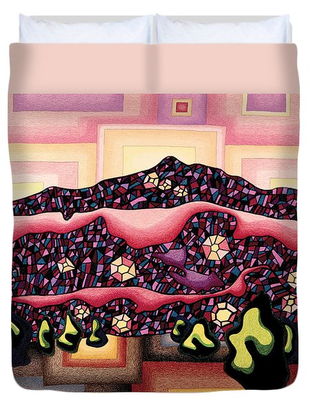 Theta Frequency Duvet Cover by Dale Beckman