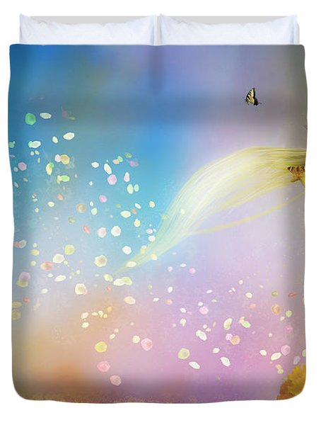 They Call Me Spring Duvet Cover by Mary Hood