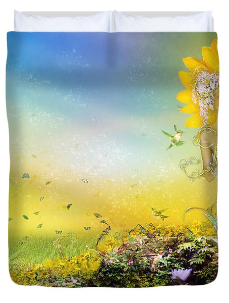 They Call Me Summer Duvet Cover by Mary Hood