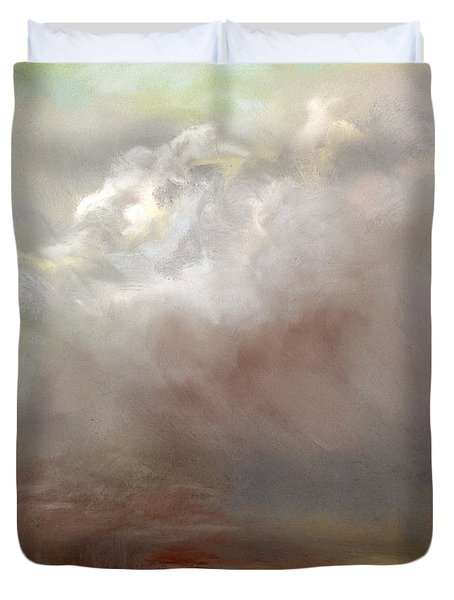 Things Are About To Change Duvet Cover by Frances Marino
