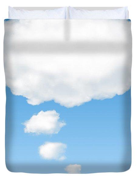 thinking cloud Duvet Cover by Carlos Caetano