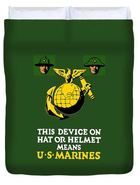 This Device Means Us Marines  Duvet Cover by War Is Hell Store