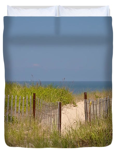 This Way to the Beach Duvet Cover by Bill Cannon