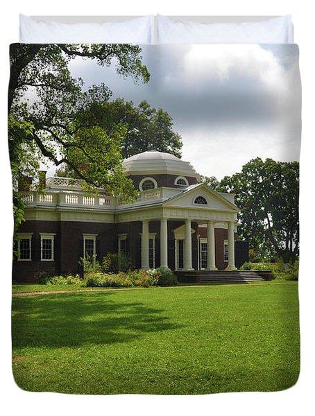Thomas Jefferson's Monticello Duvet Cover by Bill Cannon
