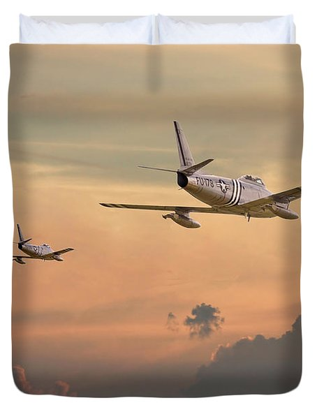 'those Were The Days......' Duvet Cover by Pat Speirs