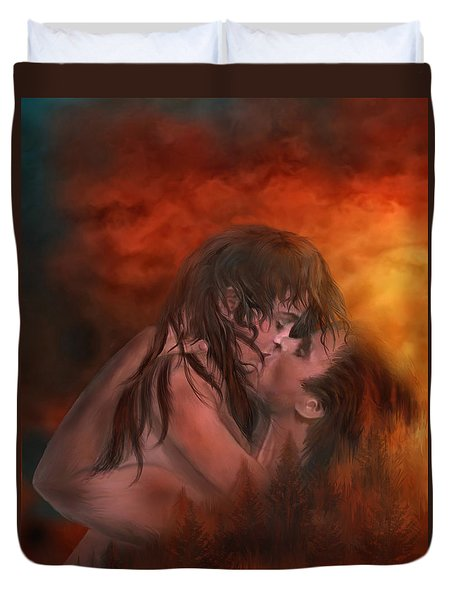 Through My Door Duvet Cover by Carol Cavalaris
