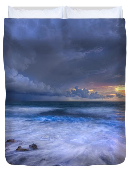 Thunder Tides Duvet Cover by Debra and Dave Vanderlaan