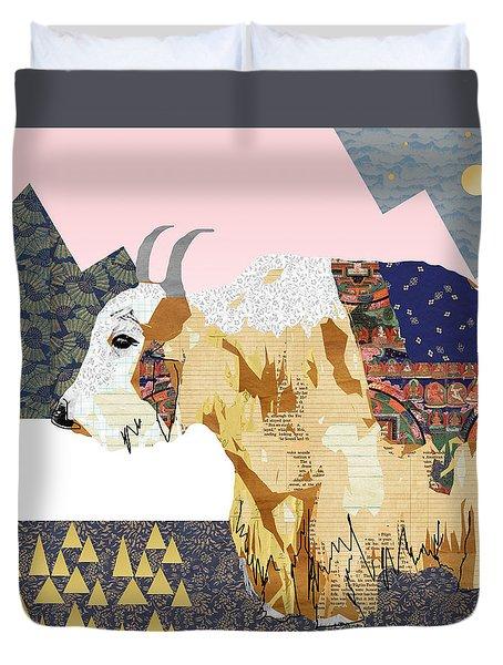 Tibet Yak Collage Duvet Cover by Claudia Schoen