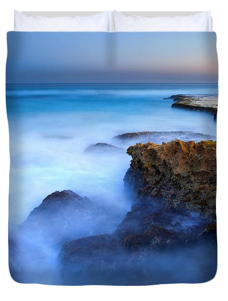 Tidal Bowl Boil Duvet Cover by Mike  Dawson