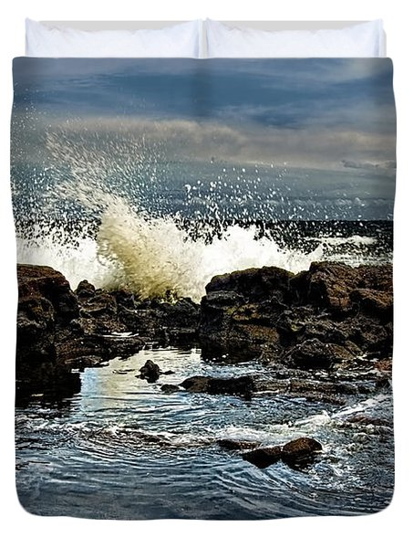 Tide Coming In Duvet Cover by Christopher Holmes