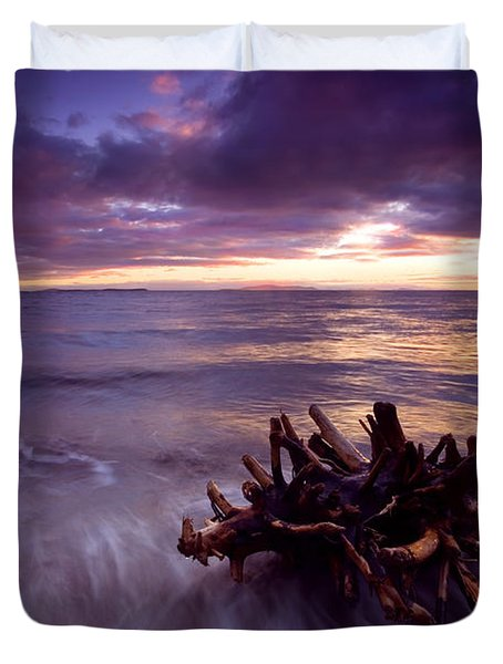 Tide Driven Duvet Cover by Mike  Dawson