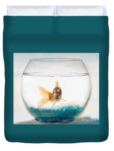 Tiger Fish Duvet Cover by Juli Scalzi