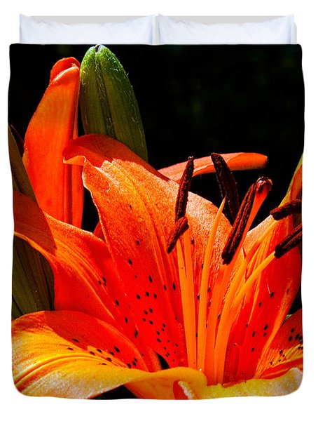 Tiger Lily Duvet Cover by Christopher Holmes