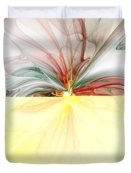 Tiger Lily Duvet Cover by Amanda Moore