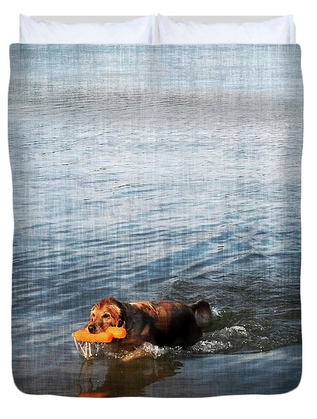 Time to Fetch Duvet Cover by Joan  Minchak