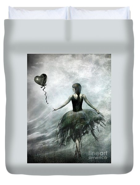 Time To Let Go Duvet Cover by Jacky Gerritsen
