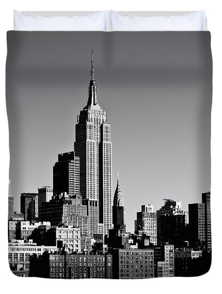 Timeless - The Empire State Building And The New York City Skyline Duvet Cover by Vivienne Gucwa