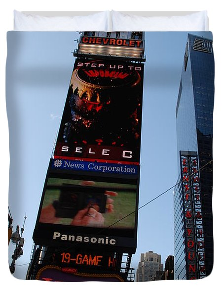 Times Square Duvet Cover by Rob Hans