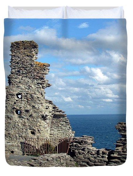 Tintagel Castle 1 Duvet Cover by Kurt Van Wagner