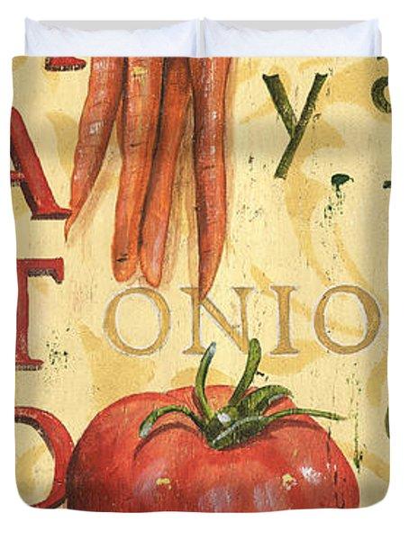Tomato Soup Duvet Cover by Debbie DeWitt