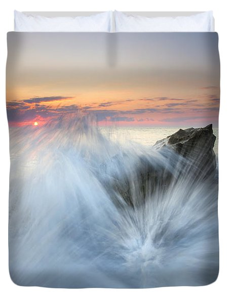 Too Close for Comfort Duvet Cover by Mike  Dawson
