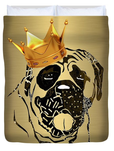 Top Dog Collection Duvet Cover by Marvin Blaine