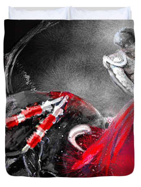 Toro Tarantino Duvet Cover by Miki De Goodaboom