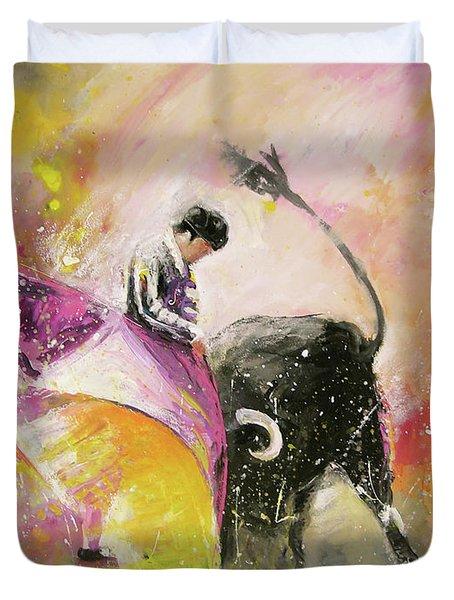 Toro Tenderness Duvet Cover by Miki De Goodaboom