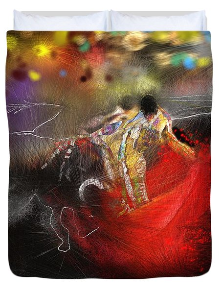 Toroscape 18 Duvet Cover by Miki De Goodaboom