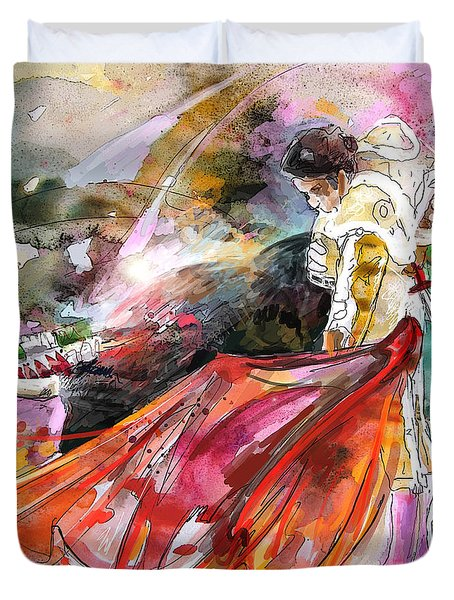 Toroscape 45 Duvet Cover by Miki De Goodaboom