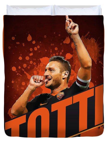 Totti Duvet Cover by Semih Yurdabak