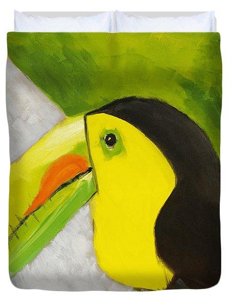 Toucan Duvet Cover by Katie OBrien - Printscapes