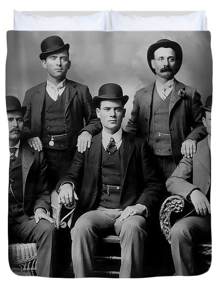 Tough Men Of The Old West 2 Duvet Cover by Daniel Hagerman