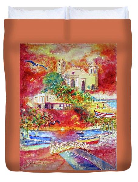 Tour Around Aguadilla Puerto Rico Duvet Cover by Estela Robles