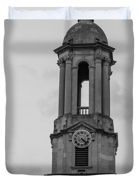 Tower At Old Main Penn State Duvet Cover by John McGraw