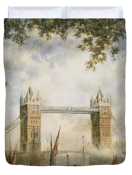 Tower Bridge - From The Tower Of London Duvet Cover by Richard Willis