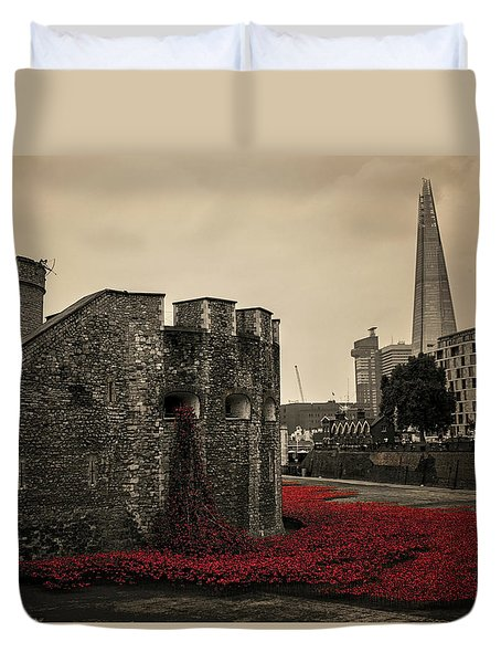 Tower Of London Duvet Cover by Martin Newman