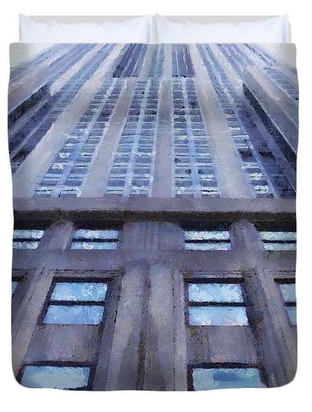 Tower Of Steel And Stone Duvet Cover by Jeff Kolker