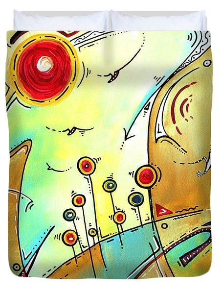 Traveling Band Original Painting MADART Duvet Cover by Megan Duncanson