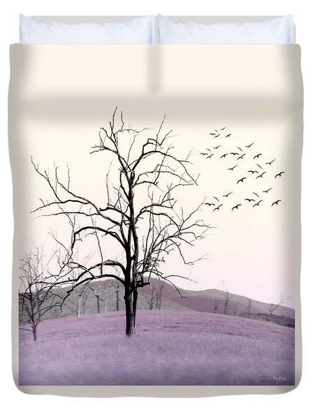 Tree Change Duvet Cover by Holly Kempe