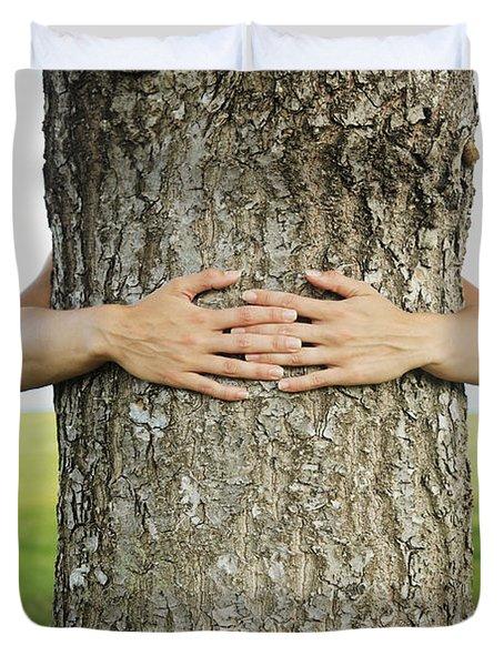 Tree Hugger 1 Duvet Cover by Brandon Tabiolo - Printscapes