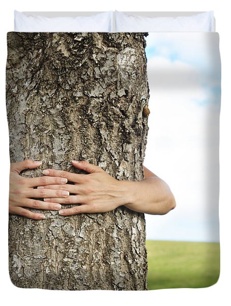 Tree Hugger 2 Duvet Cover by Brandon Tabiolo - Printscapes