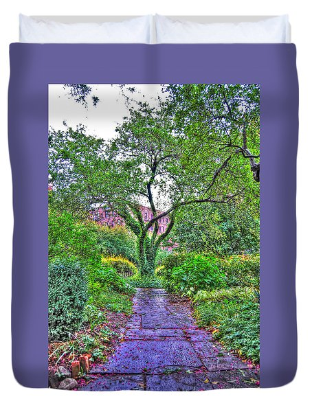 Tree Of Life At St. Luke In The Field Church Duvet Cover by Randy Aveille
