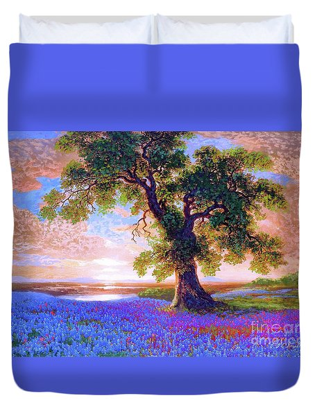Tree Of Tranquillity Duvet Cover by Jane Small