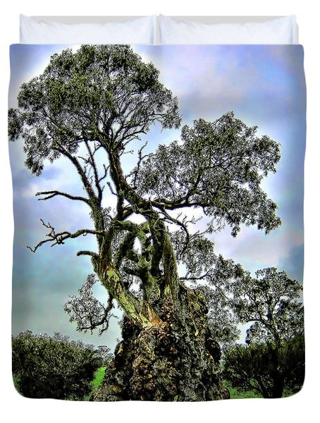 Treehouse Duvet Cover by Douglas Barnard