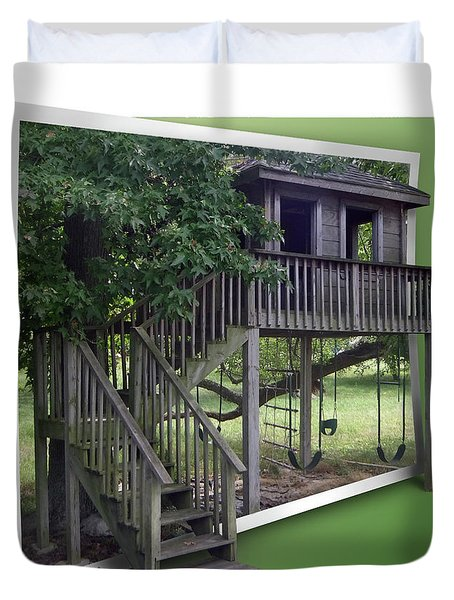 Treehouse Playground Duvet Cover by Brian Wallace